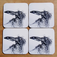 Hare Coaster Set of 4 - Hare Gift