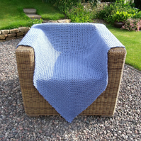 Blue Bluebell Crochet Throw - Blanket