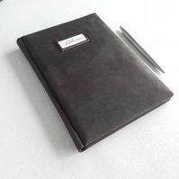 A5 Leather Titled Address Book