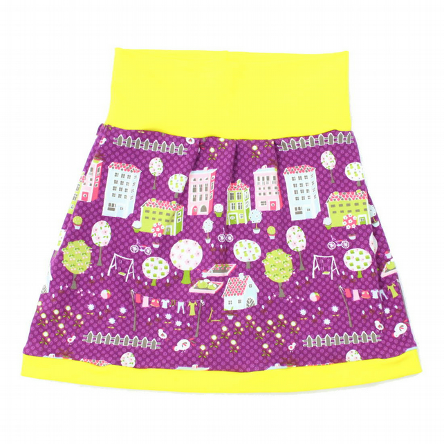 Lovely Purple City Skirt