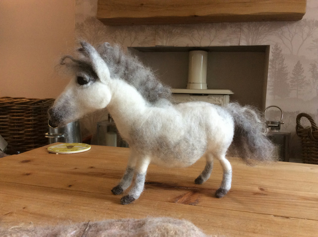 Needle Felt Fibre Art Pony