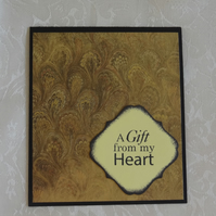 Gift Card Holder - A Gift from My Heart                                 (GC002)