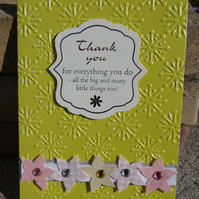 Note Card - Thank you       (A6011)