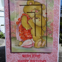 Card - With Love Happy Birthday - For a Special Mum    (57049)