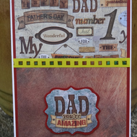 Card - Happy Father's day - Dad your Amazing   (57057)