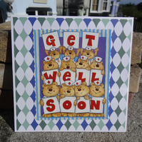 Card - Get Well Soon - Recipe for recovery  (SQ005)