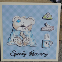 Card - Speedy Recovery - Get Well Soon   (SQ006)