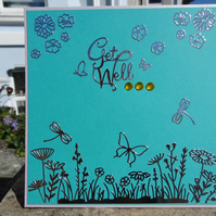 Get Well Card - Get Well   (SQ003)