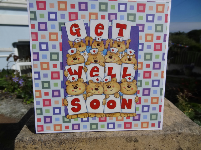 Card - Get Well Soon  (SQ004)