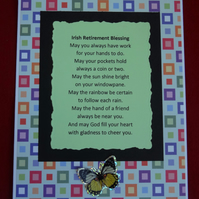 Card - Irish Retirement Blessing    (57015)