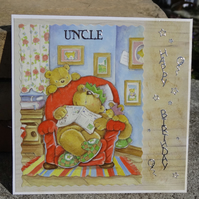 Card -  Happy Birthday Uncle   (SQ038)