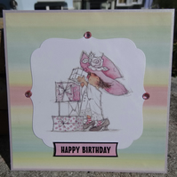 Birthday Card -  Happy Birthday   (SQ040)