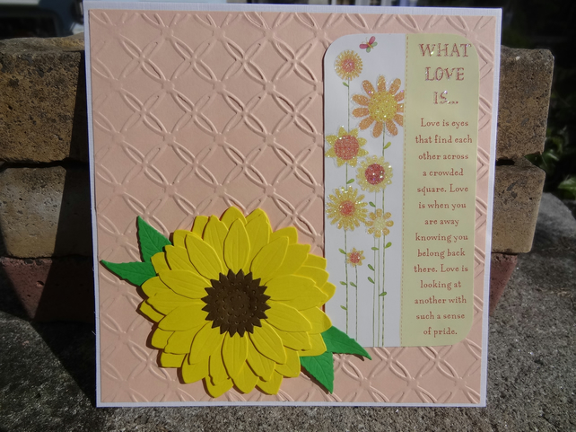 Note Card - What love is............  (SQ015)