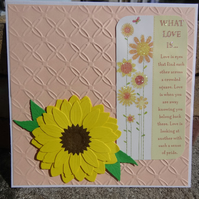 Note Card - What love is       (SQ015)