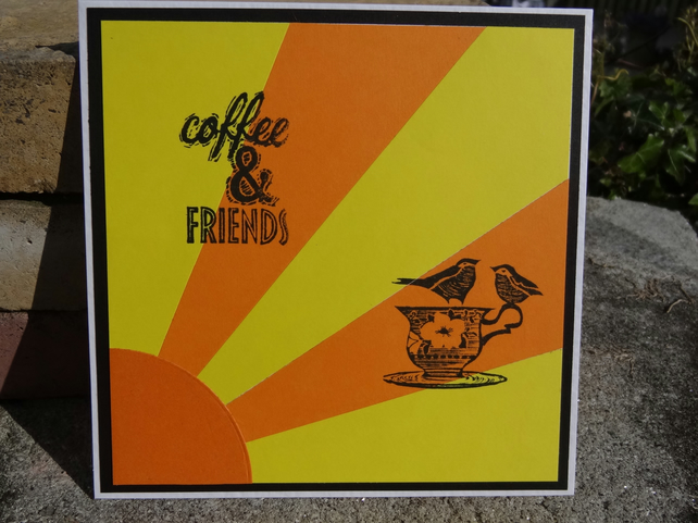 Note Card - Coffee and Friends    (SQ009)