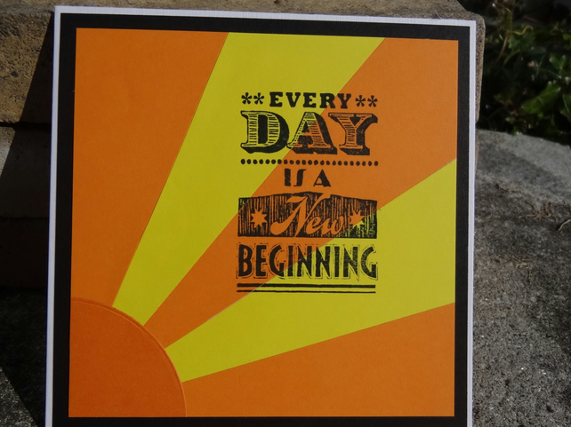 Note Card - Every Day is a New Beginning    (SQ010)
