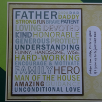 Card - Father: When I am older I'll be so glad if I grow up.......  (SQ025)