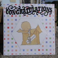 Card -  Congratulations - On your new baby  (SQ046)
