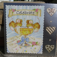 Wedding or Engagement Card - Celebrate  (SQ049)