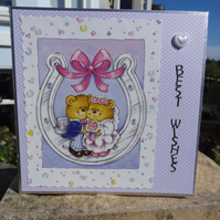Wedding Card - Best Wishes - Hope this day is as special as you are  (SQ052)