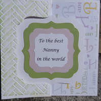 Swivel Card - To the best Nanny in the world  (SQ053)