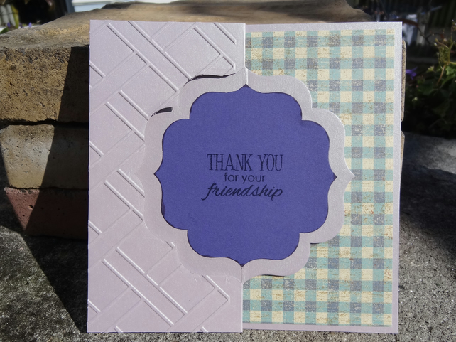 Swivel Card - Thank You for your friendship    (SQ055)