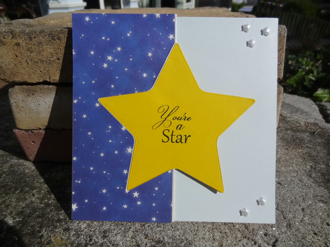 Swivel Card - You're a star - Sending you Birthday Wishes  (SQ059)