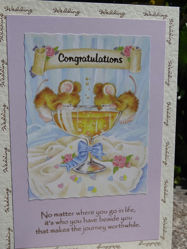 Card -  Wedding Congratulations - No matter where you go in life.....   (A50006)