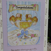 Card -  Wedding Congratulations - No matter where you go in life.....   (A5006)
