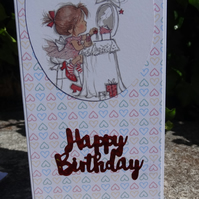 Birthday Card -  Happy Birthday    (DL002)