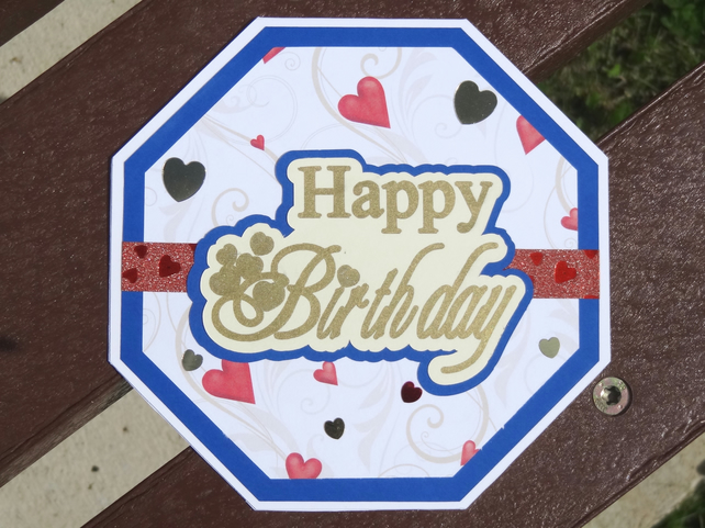 Octagonal Card - Happy Birthday   (OC005)
