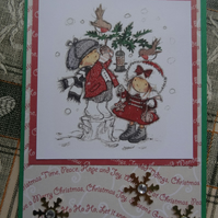 Christmas Card - Christmas - Peace, Hope and Joy   (57065)