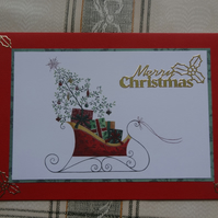 Christmas Card - Merry Christmas - Sleigh (57074)