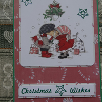 Christmas Card - Christmas wishes under the mistletoe  (57068)