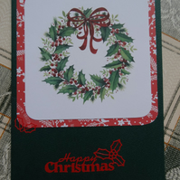 Christmas Card - Happy Christmas - Wreath (57077)