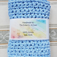 Spa Cloth - Light Blue Chenille Square (B028)
