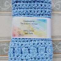 Spa Cloth - Light Blue Chenille Square (B026)