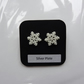 Glitter Snowflake Earrings - (E017)