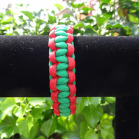 Two Tone Cobra Bar Paracord Bracelet (B034)