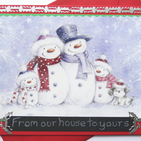 Christmas Card - From Our House to Yours   (CC153)