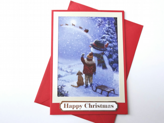 Christmas Card - Happy Christmas   (CC166)