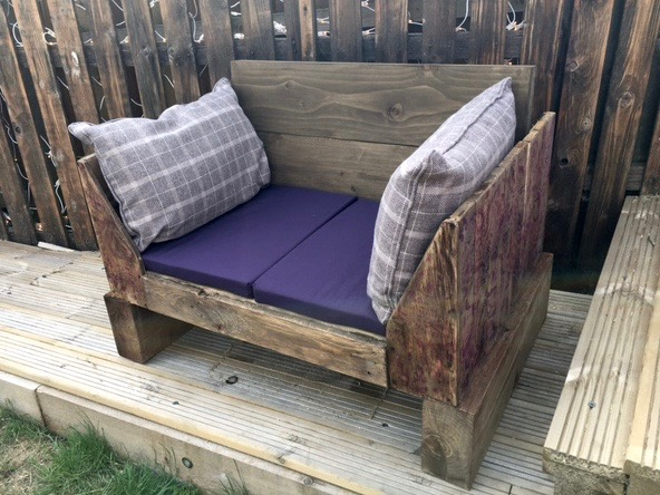 Rustic Style Handmade 2 seater Wooden Garden Chair