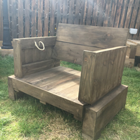 Sleeper & Pallet Garden Chair
