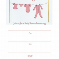 It's a girl - Baby Shower Invitations - Pack of 8