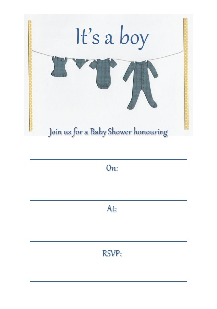 It's a boy  - Baby Shower Invitations - Pack of 8