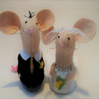 Wedding Cake Toppers, Mice Wedding Cake Toppers, Felt Mice Cake, Decor