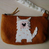 Felt Handbag, Felt Purse, Scottie Bag, Handmade Purse, Girl's Purse, Girls Bag