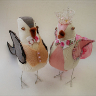Bird Wedding Cake Toppers, Handmade Cake Toppers, Vintage Wedding, Country
