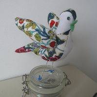 Fabric Bird Sculpture, Bird Decor, Home Decor, Cotton Bird