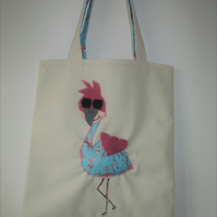 Tote Bag, Childs Tote , Tote Shopper, Flamingo Bag